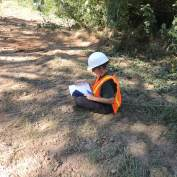 Bonnie filling out erosion control paperwork