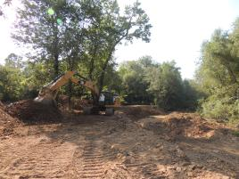 excavation for toewood structure placement