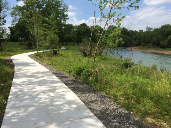 The new addition to the River Walk Trail